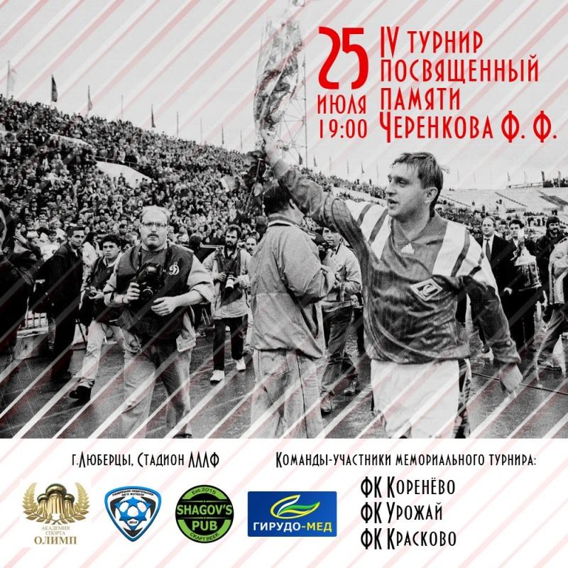 IV турнир, посвящённый памяти Черенкова Ф.Ф.